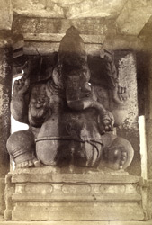 Sashweekul, Gunpatri. Hampee of Beejanuggur. [Sasivakallu Ganesha Statue: Monolithic figure of Ganesha on the road to Hampi, Vijayanagara.]
